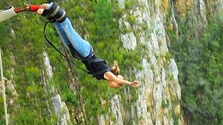 The world's highest bridge bungee jump - Bloukrans Bridge, South Africa (216 Meter)