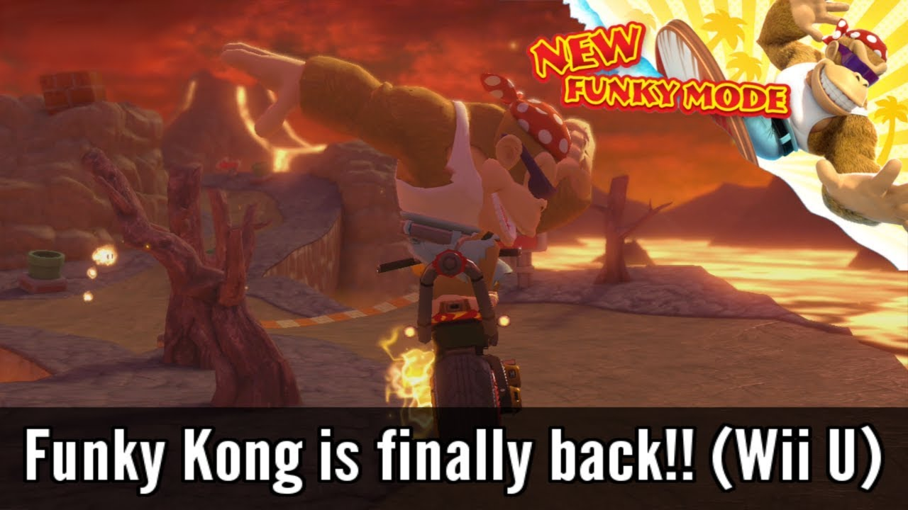 Funky Kong Joins Mario Kart 8! [Wii U Mod] - YouTube