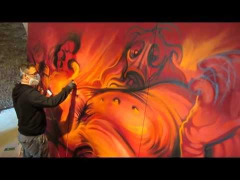 Dan Kitchener paints for Rooms magazine
