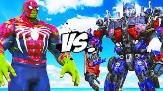 HULK-SPIDERMAN VS OPTIMUS PRIME (Transformers)