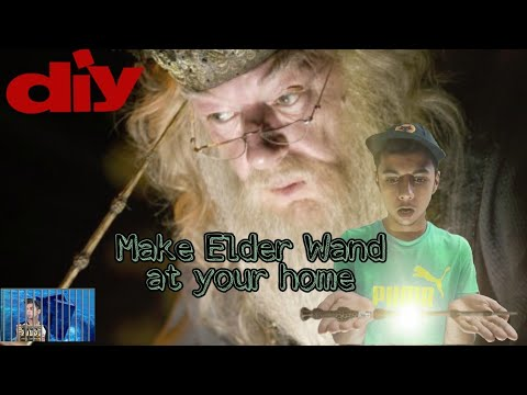 DIY | How To Make An Elder Wand At Home - Harry Potter