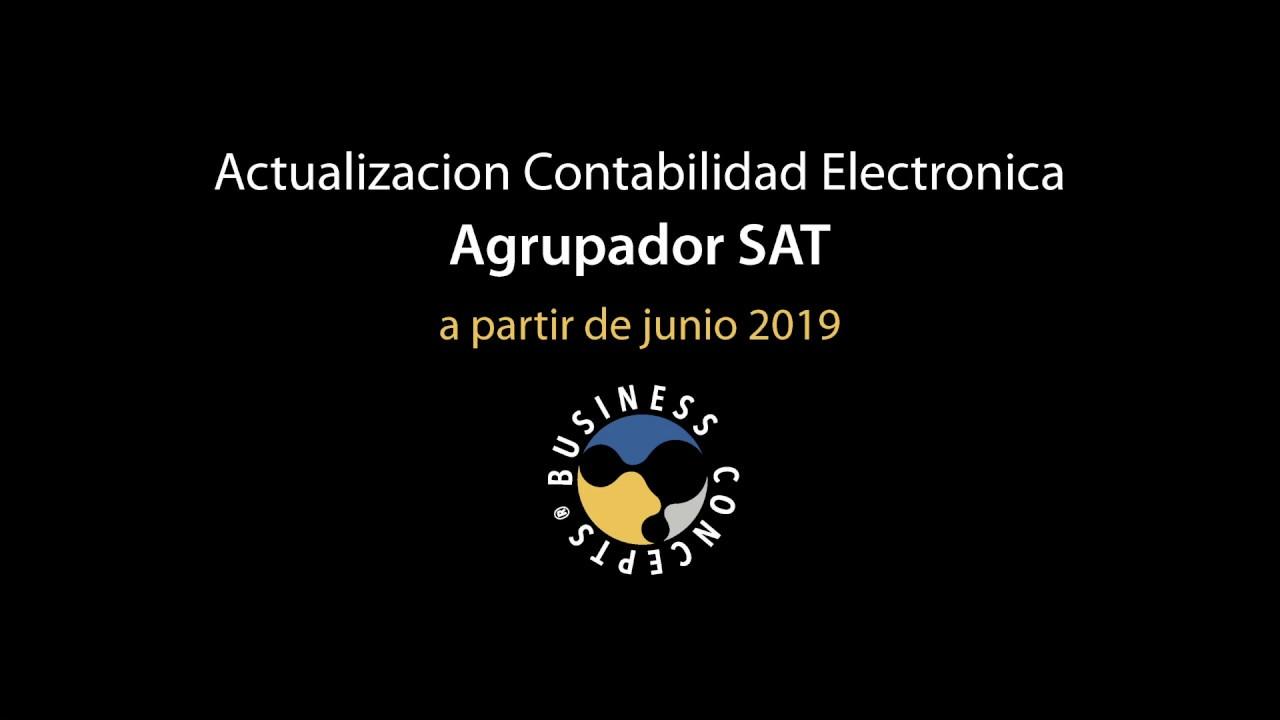 Actualización Agrupador Sat