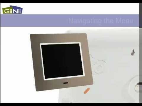 How to Program GiiNii 8 inch Thin Digital Picture Frame - YouTube