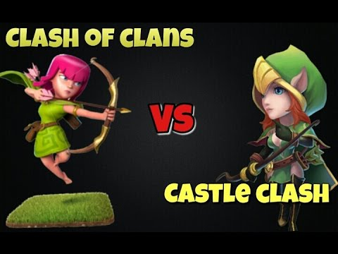 Clash Of Clans Vs. Castle Clash?