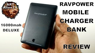 "RAVPOWER - MOBILE CHARGER BANK ""REVIEW"" - 16000mAh Deluxe. ArtAlienTV - 720p60"
