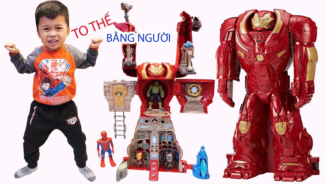 100% ĐỒ CHƠI KHỔNG LỒ |  BIGGEST Avengers HULKBUSTER Transforming Playset Superhero Toys