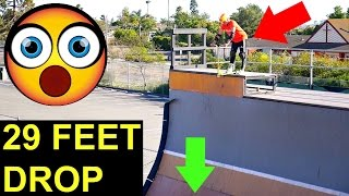 WORLD'S BIGGEST HALFPIPE DROP ON SCOOTER!