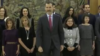 S.M. el Rey recibe a los nuevos Interventores y Auditores del Estado