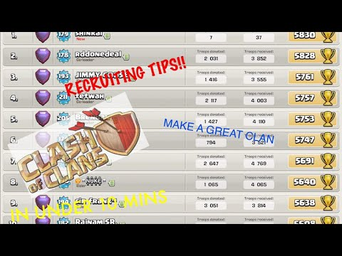 GET 5 MASTERS IN UNDER 10 MINS!! | Clash Of Clans Recruiting Tips