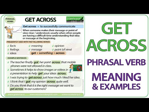 GET ACROSS - Phrasal Verb Meaning & Examples in English