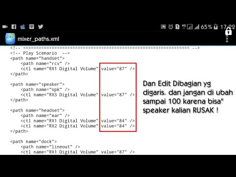Edit Mixer Paths Meningkatkan Speaker Android Root Best Speaker