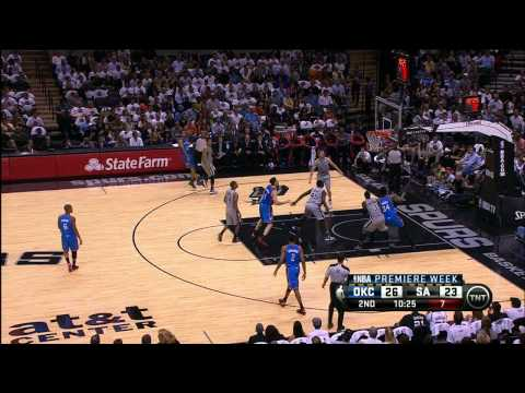 Kevin Martin's first trey with the Thunder!
