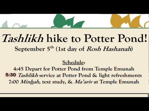 9-1-2013 Tashlikh with Temple Emunah at Potter Pond