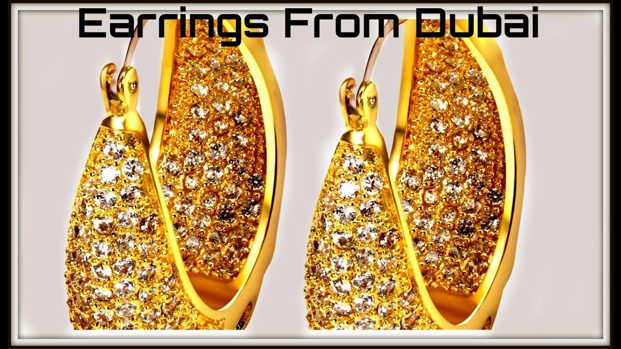 Dubai Gold Earring Designs