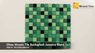 Glass Mosaic Tile Backsplash Jamaica Blend 1x1  - 101CHIGLABR205
