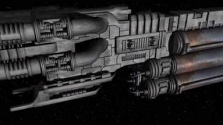 Battlestar Galactica - themed Tanker ship