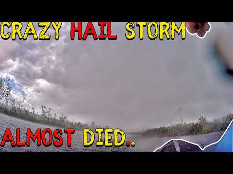 Bass Fishing Maine - North Pond / Little Pond (CRAZY HAIL STORM)