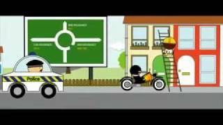 Komik Karikatür Otomatik Sigorta Reklam