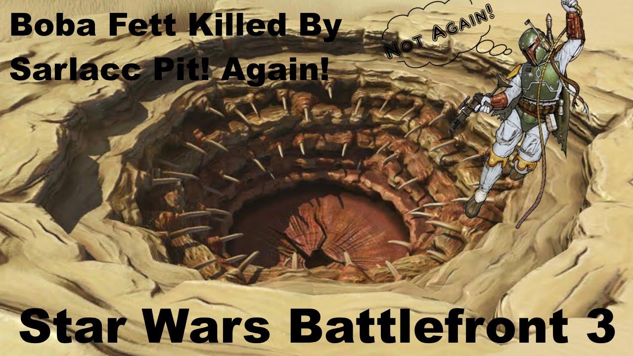 Boba Fett Killed By Sarlacc Pit Battlefront 3 Youtube