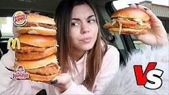 McDonalds vs Burger King vs Wendys CHICKEN SANDWICH EDITION!