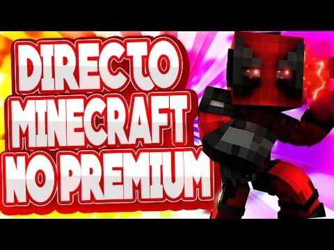DIRECTO MINECRAFT NO PREMIUM CON SUBS! 1.8! !+  HABLANDO CON SUBS!