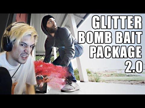 XQc Reacts To Porch Pirate Vs. Glitter Bomb Trap 2.0 | Mark Rober