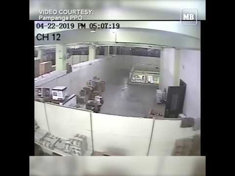 CCTV of Chuzon supermarket collapse during 6.1-magnitude quake