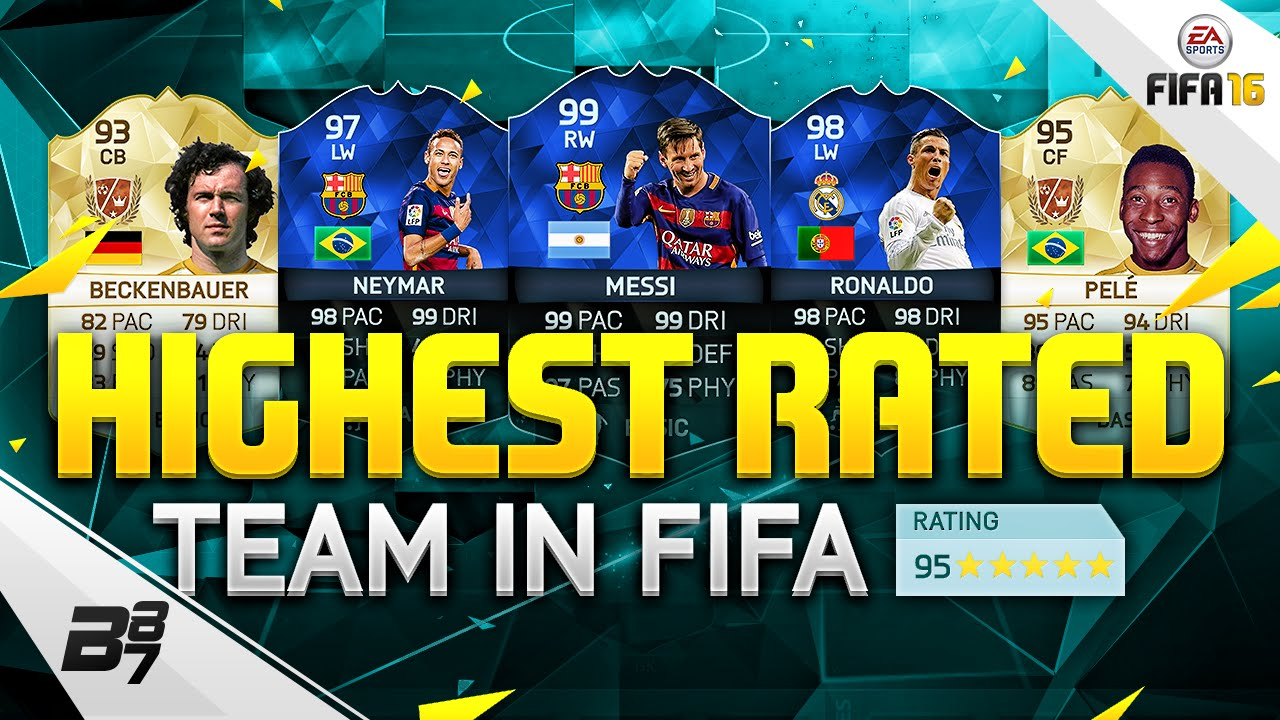 HIGHEST RATED TEAM ON FIFA! 195 RATED! | FIFA 16 - YouTube