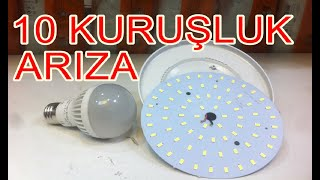 BOZUK LED AMPÜL TAMİRİ NASIL YAPILIR-SMD LED DEĞİŞİMİ (Led Bulb Repair Easily)