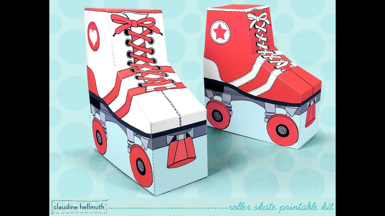 make a roller skate party favor box - YouTube