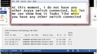 Avaya ERS Switches Discovery Protocol   Cisco CDP NMM TABLE