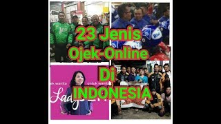 Taukah anda? Ada 23 macam ojek online di indonesia