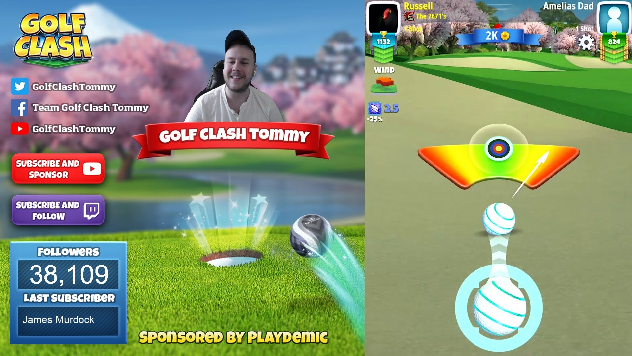 Golf Clash Tips Playthrough Hole 1 9 Rookie Tournament Wind Easter Open Tournament Youtube
