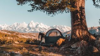 Camping with a view of the Tetons