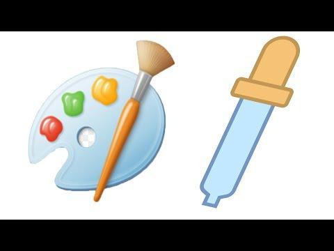 Как пользоваться функцией пипетка в Paint Microsoft. Автомат. определение цвета и использование его.