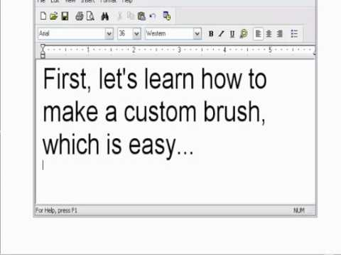 Dailymotion - Ms Paint Tutorial 1  Custom Brushes - A Arts Video.mp4