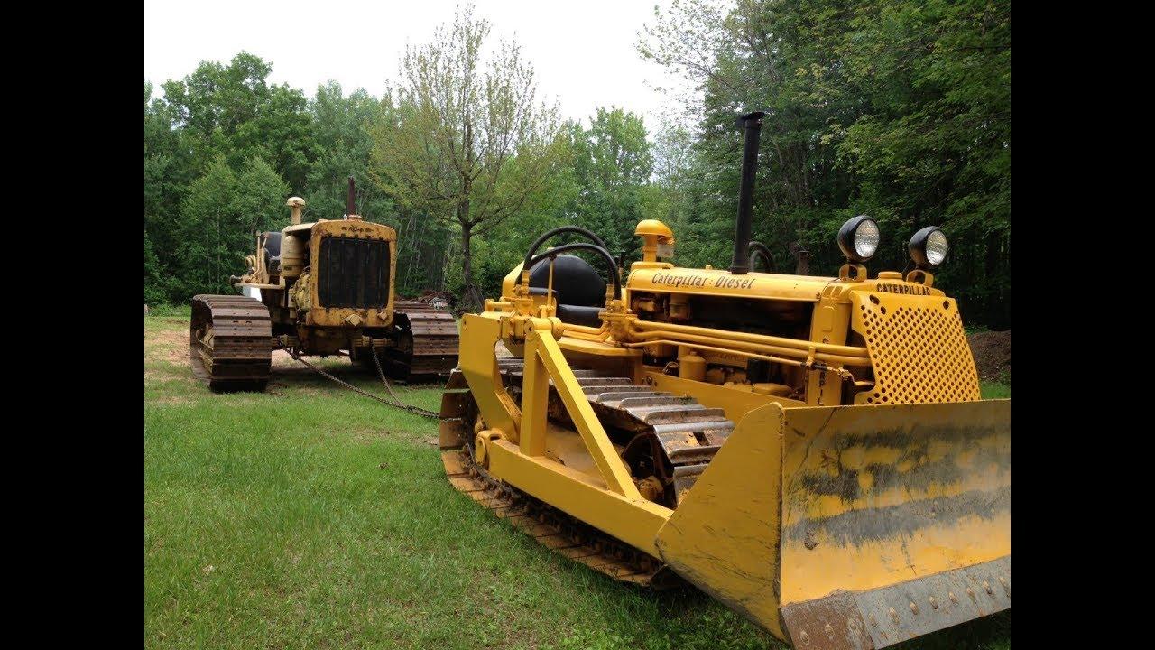 Caterpillar D2 Towing the Caterpillar RD6
