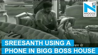 Bigg Boss 12: Sreesanth using a mobile phone inside the house