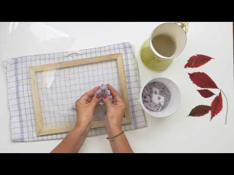 DIY paper crafts with autumn leaves