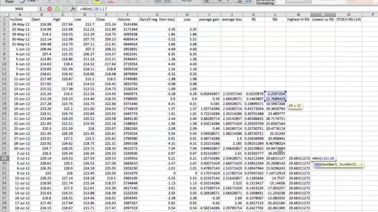 RSI Calculation - Macroption