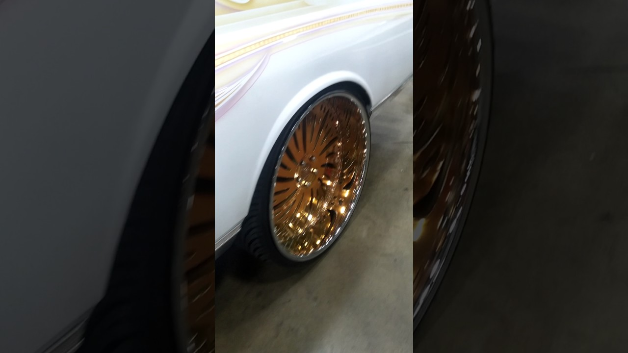 Pearl White Box Chevy On 26 U0026quot  Gold Corleone Forged Wheels