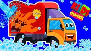 Van Car Wash | Childrens Cartoon | Street Vehicles | Video For Kids