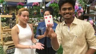 Magician Vignesh prabhu in Bangkok (hypnotism & closeup Magic)