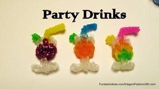 Rainbow Loom Party Glass Drinks/juice,cocktail,wine, Water Emoji/emoticon Charm - How To