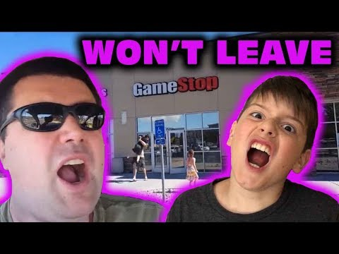 Kid Temper Tantrum Carried Out And Banned From Gamestop