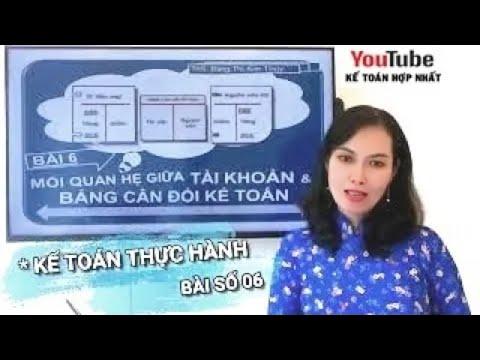 Học Kế toán thực hành - Bài 6: Mối quan hệ giữa Tài khoản & Bảng cân đối kế toán - Kế Toán Hợp Nhất