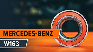 How and when to replace Hub bearing rear and front MERCEDES-BENZ M-CLASS (W163): video tutorial