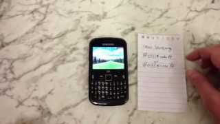 How To Enter Unlock Code on Samsung S3350 CH@t Chat