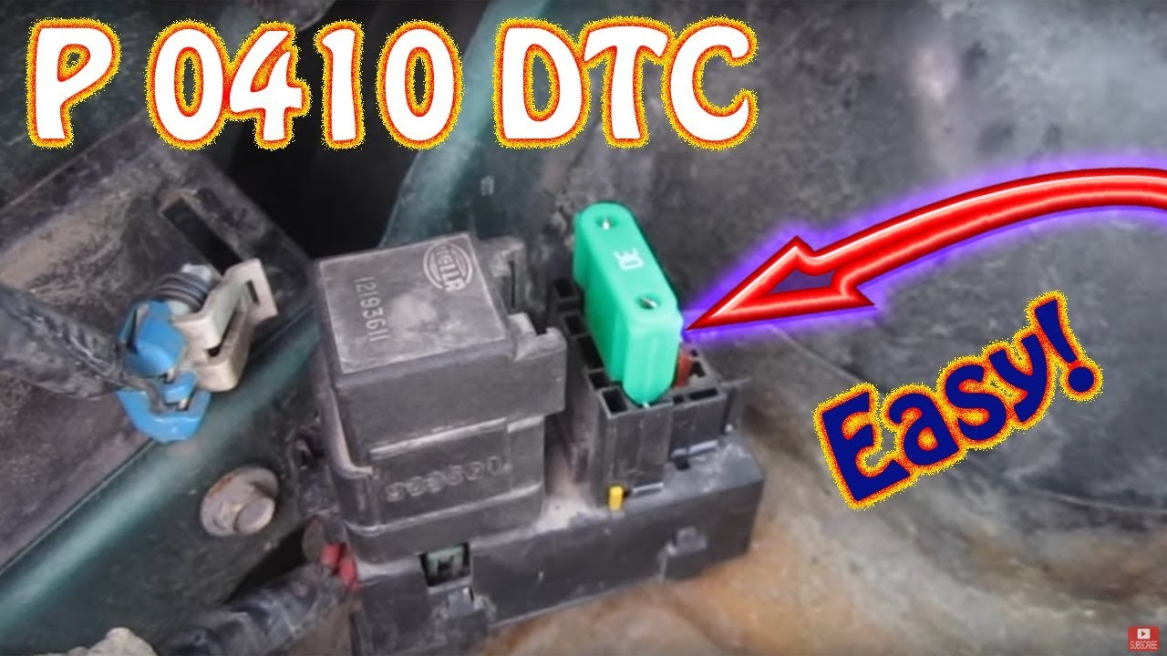 hino wiring diagram xbox 360 controller circuit board check engine light code p0410 secondary air injection system chevy blazer gmc jimmy s10 - youtube