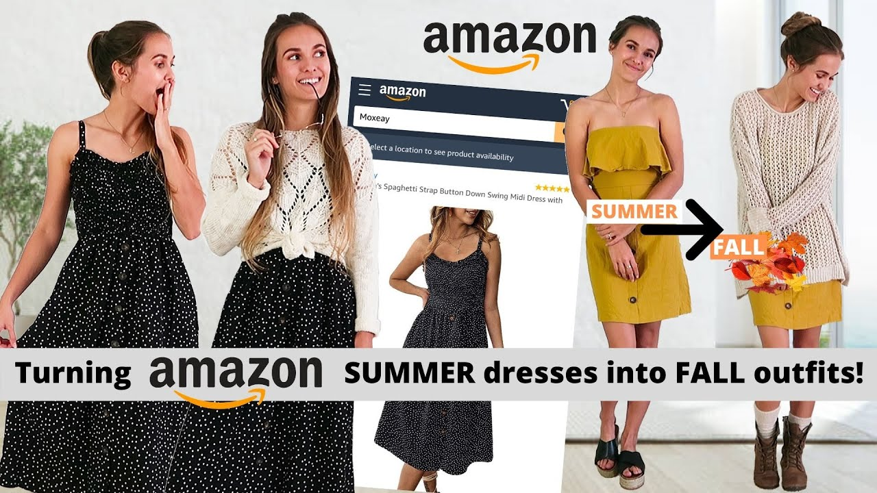 [VIDEO] - How to Style SUMMER DRESSES for FALL & WINTER 2020 (all under $30 from Amazon!!) 4
